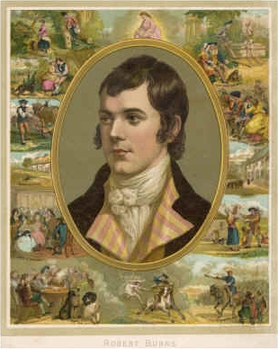 Robert Burns Surrounded by His Works